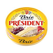 President Soft-Ripened Cheese Brie Wheel, 16 oz.