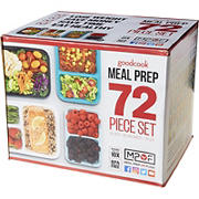 GoodCook 72-Pc. Meal Prep Container Set