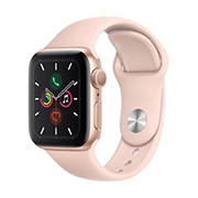 Apple Watch Series 5 GPS with Gold Aluminum Case, 40mm - Pink Sand Sport Band