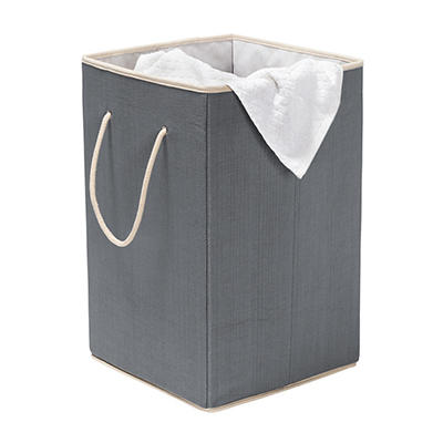 Honey Can Do Collapsible Resin Hamper - Gray