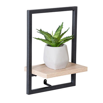 Honey Can Do Small Vertical Floating Wall Shelf