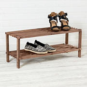 Honey Can Do 2-Shelf Shoe Rack - Espresso