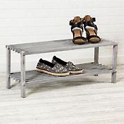 Honey Can Do 2-Shelf Shoe Rack - Gray