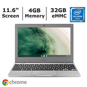 Samsung Chromebook 4 XE310XBA-K01US Laptop, Intel Celeron N4000 Processor, 4GB Memory, 32GB eMMC