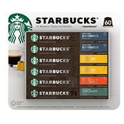 Starbucks by Nespresso Variety Pack 60-count single serve capsules