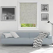"Achim 47"" x 72"" Cordless Privacy Jute Shade - Heather"