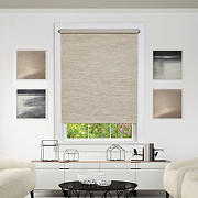 "Achim 55"" x 72"" Cordless Privacy Jute Shade - Natural"