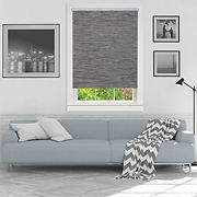 "Achim 41"" x 72"" Cordless Privacy Jute Shade - Smoke"