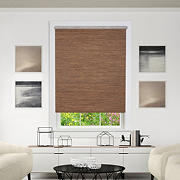 "Achim 28"" x 72"" Cordless Privacy Jute Shade - Cocoa"