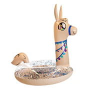 "PoolCandy 48"" Glitter Llama Pool Tube"