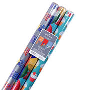 Hallmark Reversible Wrapping Paper Bundle, 3 pk./120 sq. ft. ttl - Celebrate