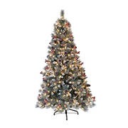 Puleo International 7.5' Sterling Pine Pre-Lit Tree with 600 ct. Clear Lights