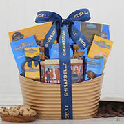 Ghiradelli Metal Holiday Gift Basket - Blue