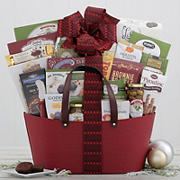 Houdini Sweet and Savory Leather Gift Basket