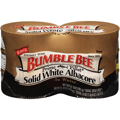 Bumble Bee Prime Fillet Solid White Albacore Tuna in Water, 6 pk./5 oz