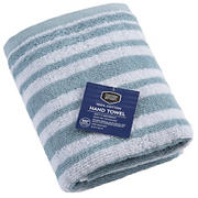 Berkley Jensen Cotton Hand Towel - Glacier Blue Stripe