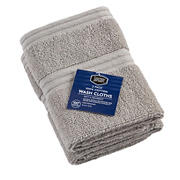 Berkley Jensen Cotton Wash Cloths, 2 pk. - Gray
