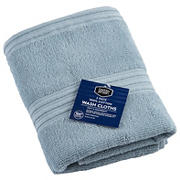 Berkley Jensen Cotton  Wash Cloths, 2 pk. - Glacier Blue
