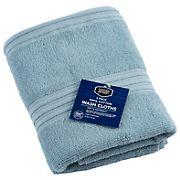 Berkley Jensen Cotton  Wash Cloths, 2 pk. - Glacier Blue