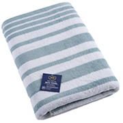 Berkley Jensen Cotton Bath Towel - Glacier Blue Stripe
