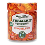 MegaFood Organic Vegan Turmeric Spice Inflammation Response Gummies, 90 ct.