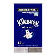 Kleenex Ultra Soft Facial Tissues, 12 pk.
