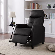 Erinia Push Back Tuff Stuff Fabric Recliner Chair - Black