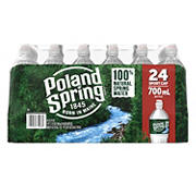 Poland Spring 100% Natural Spring Water with Sports Cap, Deposit, 24 pk./23.7 oz.