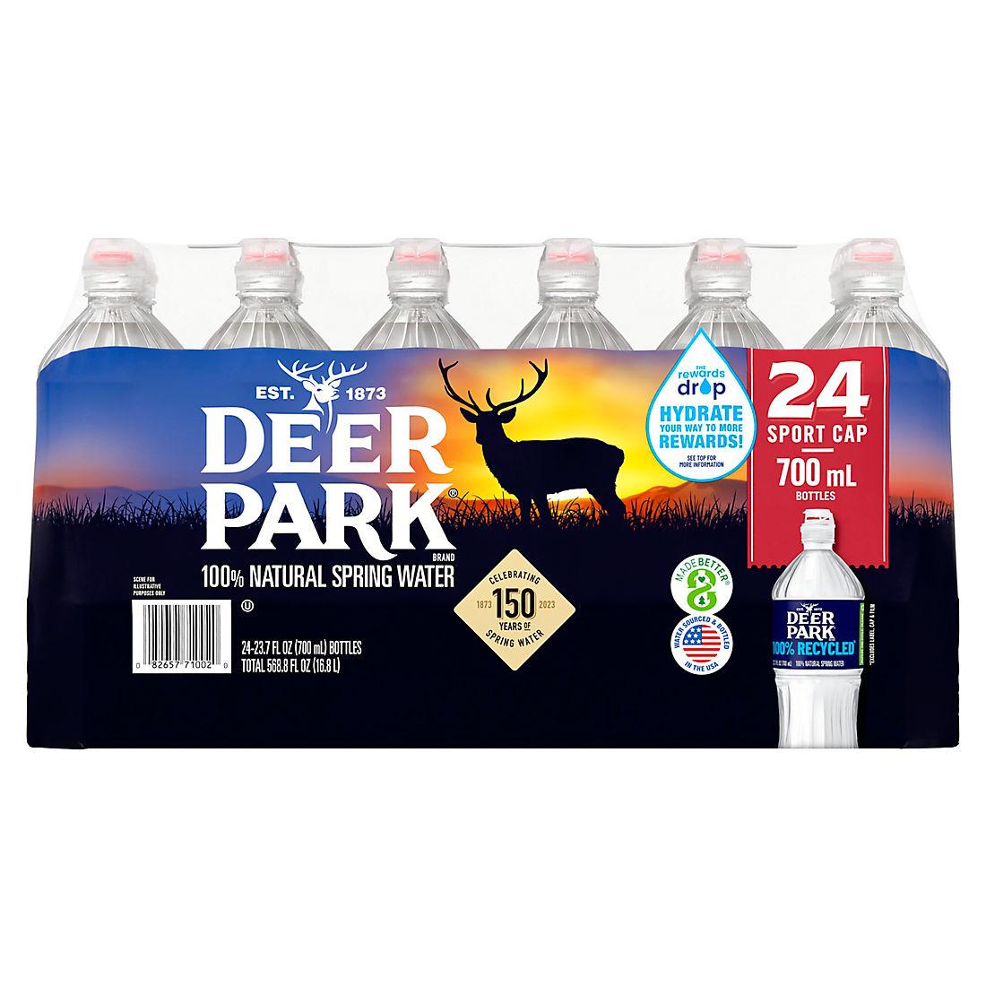 Deer Park 100% Natural Spring Water with Sports Cap, 24 pk /23 7 oz