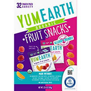 YumEarth Organic Fruit Snacks Variety Box, 32 ct.