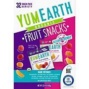 Yum Earth Organic Fruit Snacks Variety Box, 32 ct.