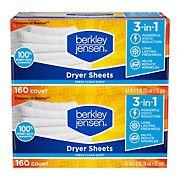 Berkley Jensen Soft and Fresh Dryer Sheets, 320 ct.