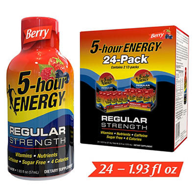 5-Hour Energy, Berry Flavor, 24 pk./1.93 oz.
