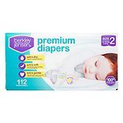 Berkley Jensen Premium Ultra Absorbent Baby Diapers, Size 2, 112 ct.