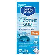 Berkley Jensen Ice Mint 2 mg Coated Nicotine Polacrilex Gum, 240 ct.