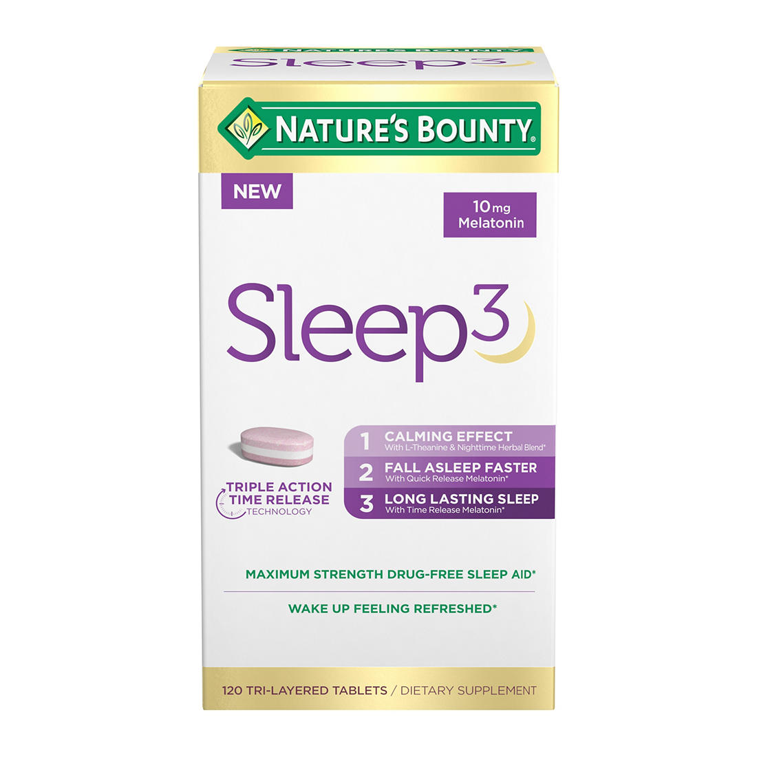 Nature S Bounty Sleep3 120 Ct Bjs Wholesale Club