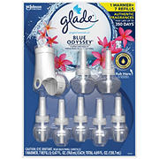 Glade Blue Odyssey Plug In Scented Oil Warmer with 7 Refills