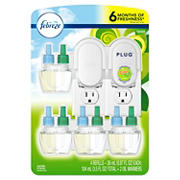Febreze Gain Original Scent Air Freshener, 2 Oil Warmers and 4 Scented Oil Refills
