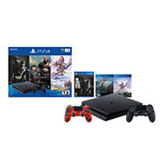 PlayStation 4 1TB Console Hits Bundle with Red Camouflage DualShock4 Wireless Controller