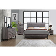 Kate 5-Pc. Queen Bedroom Set with White Glove Delivery - Beechwood Gray