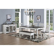Denison 6-Pc. Two-Tone Dining Room Set - Ivory/Brown