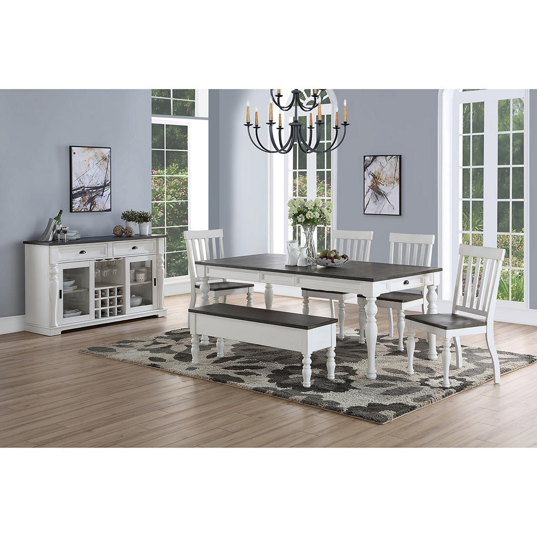 Denison 6 Pc Two Tone Dining Room Set