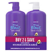 Aussie Miracle Moist with Avocado & Jojoba Oil, Shampoo and Conditioner, 30.4 fl. oz.