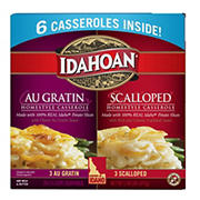 Idahoan Au Gratin and Scalloped Casserole Variety Pack, 6 pk.