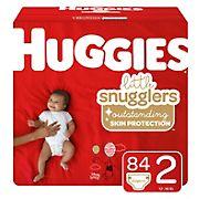 Huggies Little Snugglers Baby Diapers, Newborn, 84 ct.