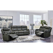 Carson 3-Pc. Reclining Living Room Set - Gray