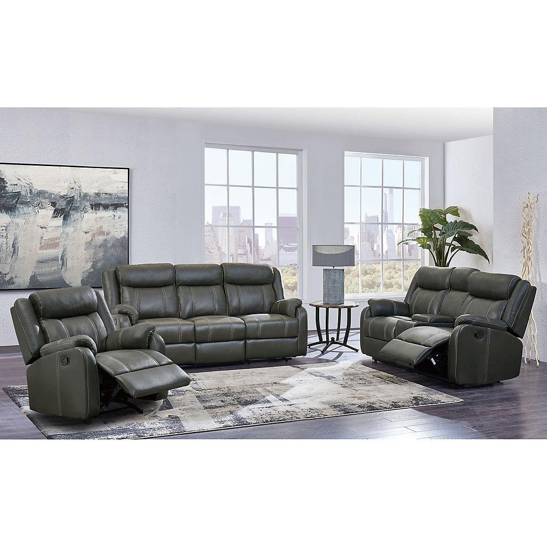 Carson 3 Pc Reclining Living Room Set Gray Bjs Wholesale Club