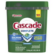 Cascade Fresh Scent Complete Dishwasher Detergent ActionPacs, 90 ct.