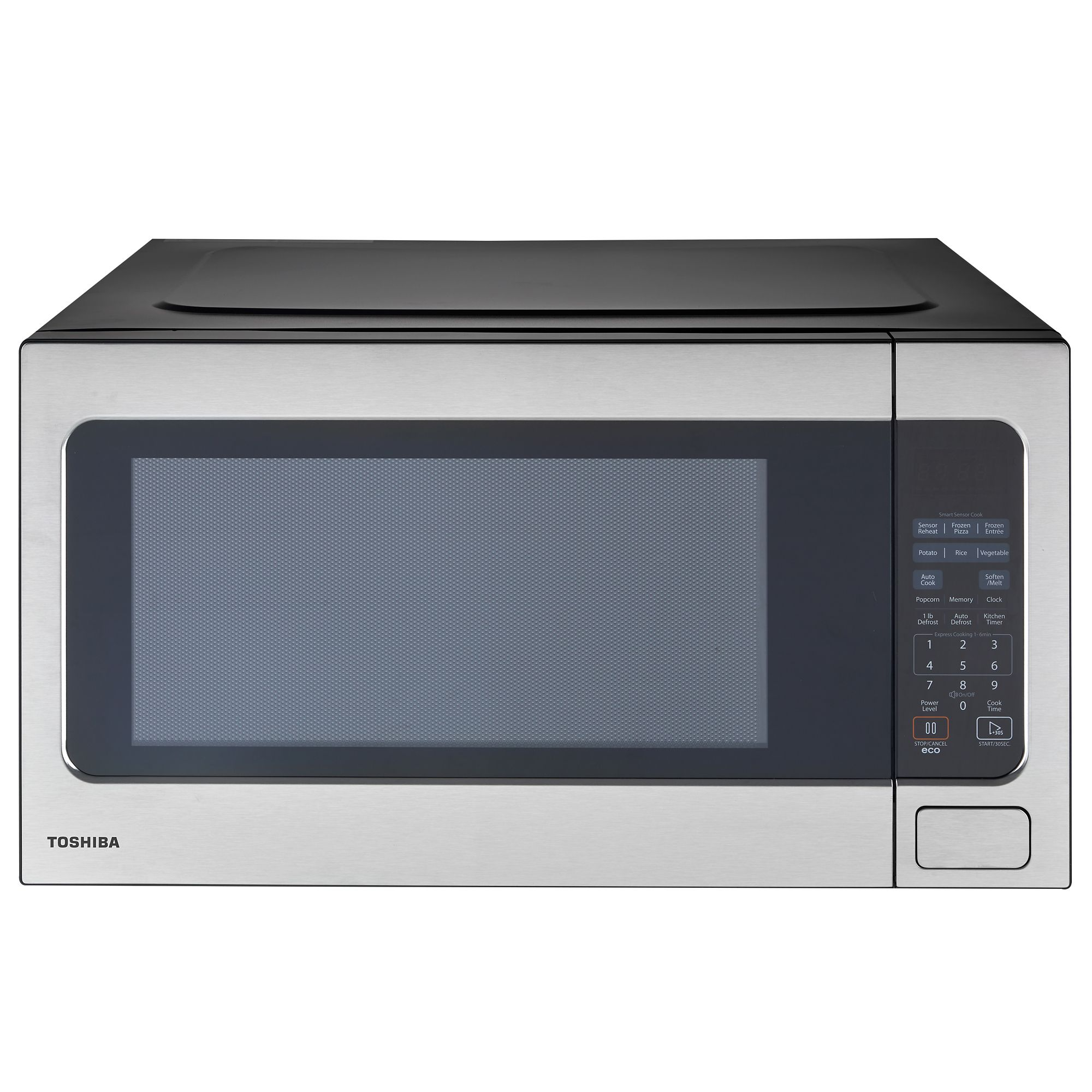 Toshiba 2 2 Cu Ft 1200w Microwave Stainless Steel Shefinds