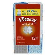 Kleenex Anti-Viral Facial Tissue, 12 pk.